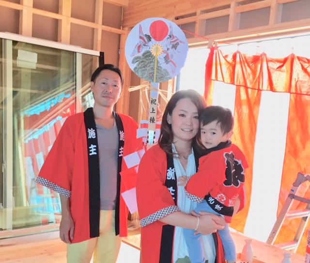 本日は、芳賀町.W様邸の上棟式です。 (^▽^)/